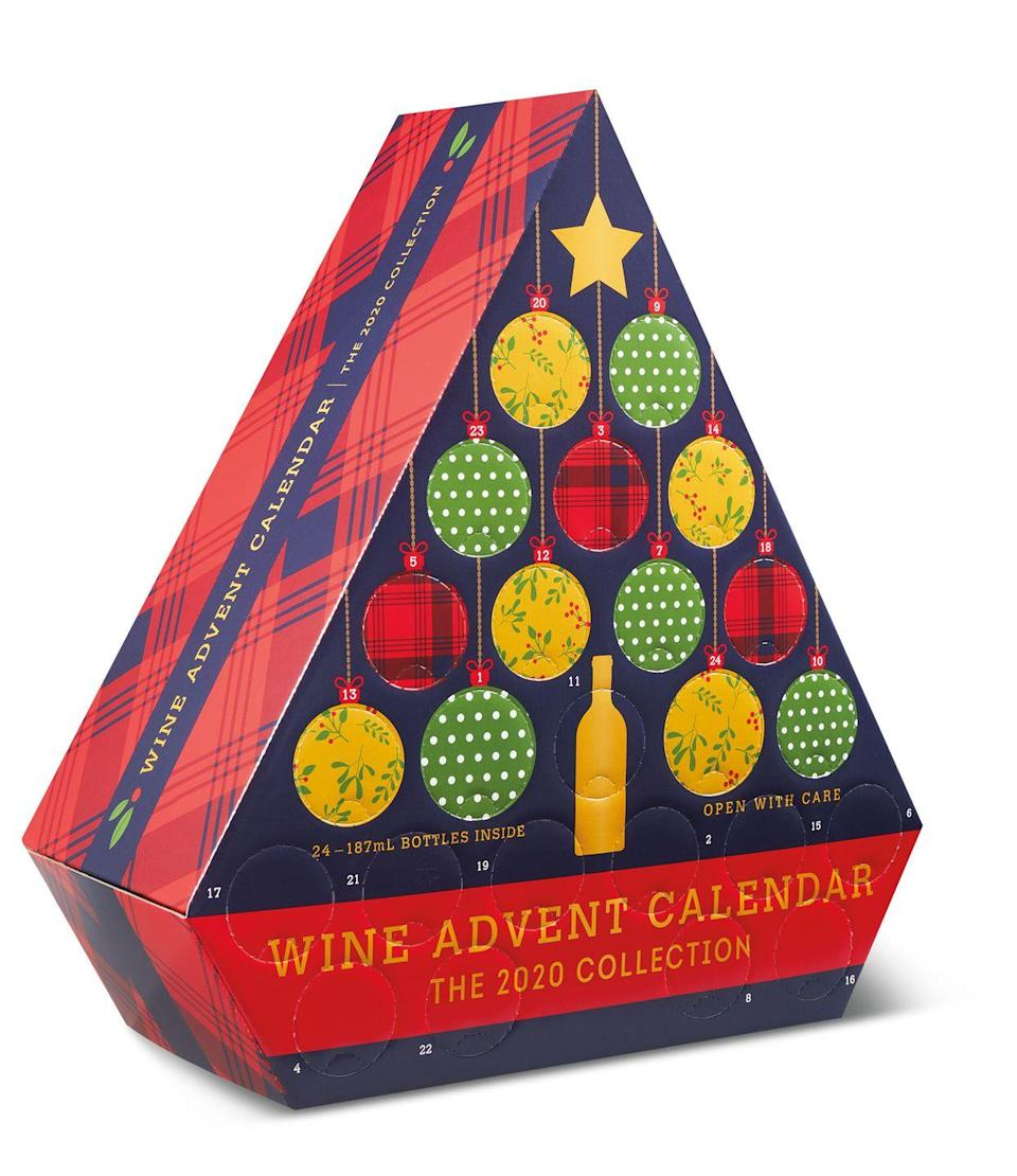 "<p>Like everything else at <a href=""https://www.delish.com/food-news/a34027262/aldi-advent-calendars-2020/"" rel=""nofollow noopener"" target=""_blank"" data-ylk=""slk:Aldi"" class=""link rapid-noclick-resp"">Aldi</a>, this gift is CHEAP: Each of the 24 mini bottles of booze inside comes to about $2.91. Plus, the box is pretty enough to leave out under the tree! Find it at your local Aldi starting <a href=""https://www.delish.com/food-news/a34055289/aldi-wine-advent-calendars-2020/"" rel=""nofollow noopener"" target=""_blank"" data-ylk=""slk:November 4"" class=""link rapid-noclick-resp"">November 4</a>.</p>"