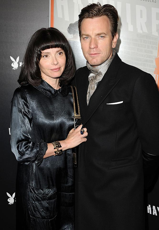 "<a href=""http://movies.yahoo.com/movie/contributor/1800019128"">Ewan McGregor</a> and guest at the Los Angeles premiere of <a href=""http://movies.yahoo.com/movie/1810215399/info"">Haywire</a> on January 6, 2012."