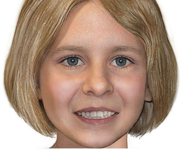 A digitally 'aged' image of missing girl Serena Speath. Photo: AAP
