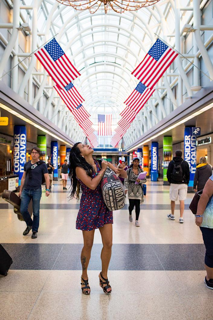 July 3, 2016 - Liset arrives at Chicago O'Hare International Airport to be reunited with her boyfriend, Joey, who she met in Cuba back in January and paid for her trip to go to the Unites States. (Photo: Lisette Poole)