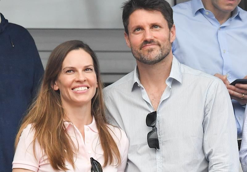 Actress Hilary Swank and social venture entrepreneur Philip Schneider opted for a Burning Man-themed ceremony in the Redwoods this August, which included a silent disco.
