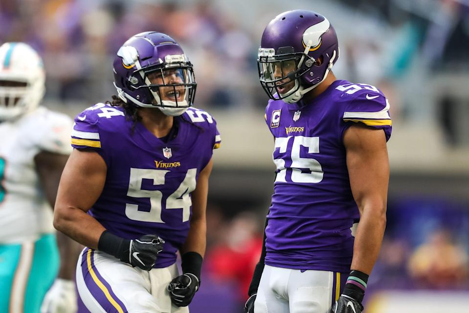 Linebacker Eric Kendricks (left) is a leading voice for the Minnesota Vikings, not only on the field but also on the team's social justice committee.