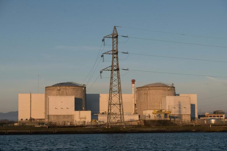 France is finally shutting the country's two oldest nuclear reactors, at the Fessenheim nuclear power plant in Alsace, nearly 10 years after first announcing their shutdown. (AFP Photo/SEBASTIEN BOZON)