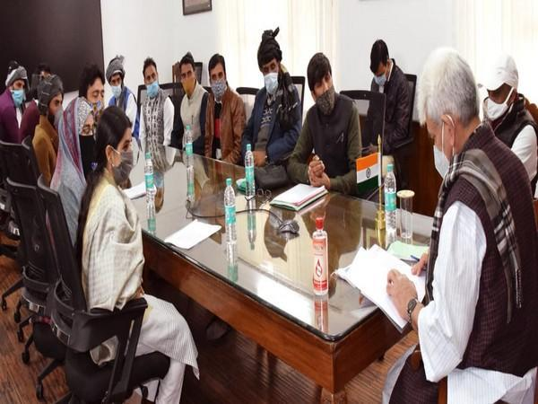 A visual of the metting with Lt Governor Jammu and Kashmir Manoj Sinha.
