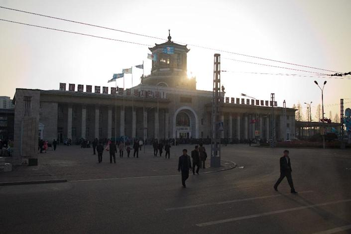 File photo of Pyongyang train station, pictured in 2012 (AFP Photo/Ed Jones)