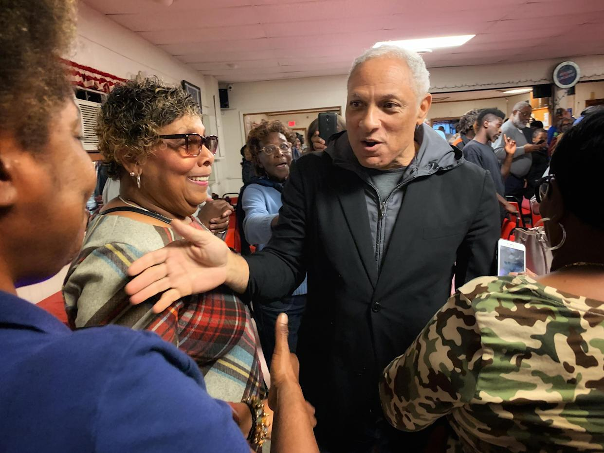 Mike Espy, the Democratic candidate for Senate, at a campaign event in Vicksburg, Miss. (Photo: Holly Bailey/Yahoo News)