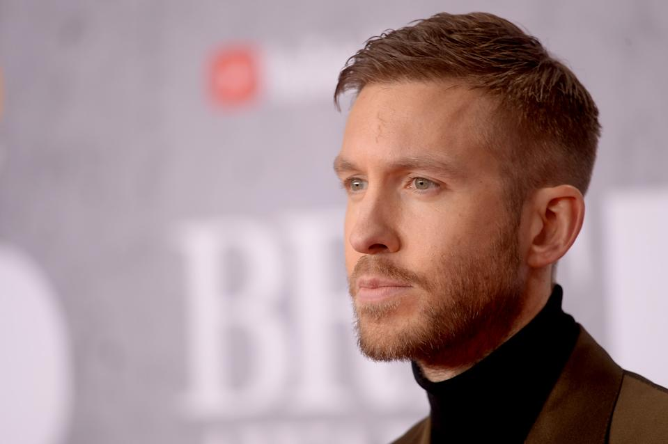 LONDON, ENGLAND - FEBRUARY 20: (EDITORIAL USE ONLY) Calvin Harris attends The BRIT Awards 2019 held at The O2 Arena on February 20, 2019 in London, England. (Photo by Dave J Hogan/Getty Images)