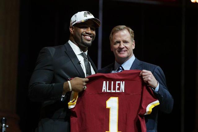 Will Jonathan Allen's college dominance translate in the pros? (Getty)