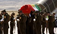 A row has broken out over the use of the Kurdish flag rather than the Iraqi colours at the funeral of former president Jalal Talabani in Iraqi Kurdistan