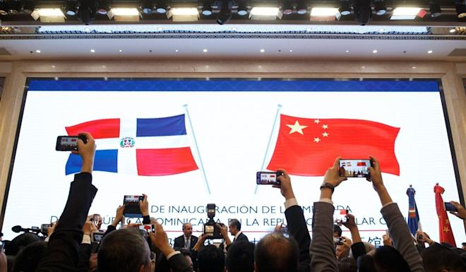The Dominican Republic opens an embassy in Beijing in November 2018 after it switched diplomatic recognition from Taipei. Photo: AFP