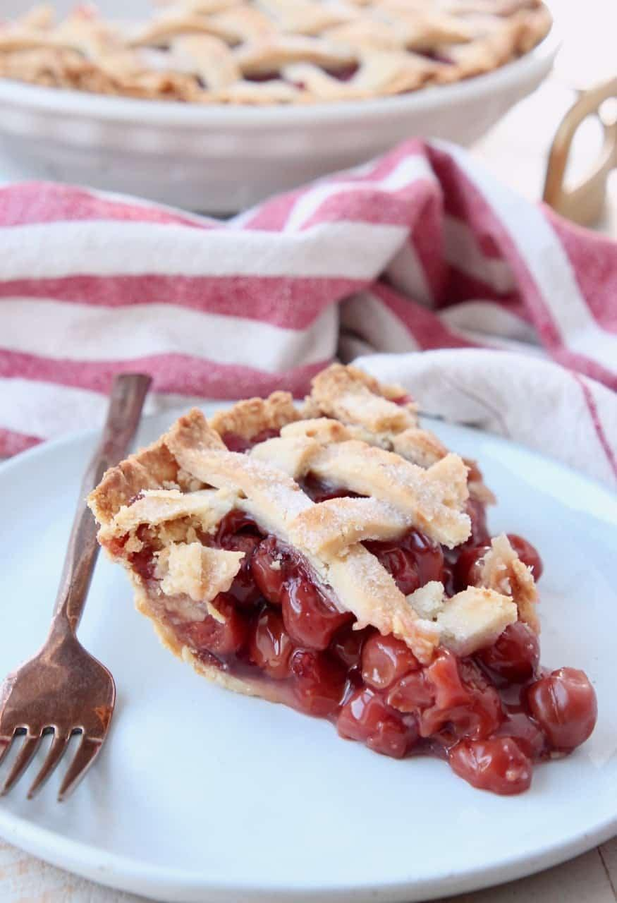 "<p>Both sweet and tart, you can't go wrong with a classic cherry pie. Not to mention, a homemade crust and lattice topping will make it that much better.</p> <p><strong>Get the recipe</strong>: <a href=""https://whitneybond.com/guest-post-moms-famous-cherry-pie/"" class=""link rapid-noclick-resp"" rel=""nofollow noopener"" target=""_blank"" data-ylk=""slk:cherry pie"">cherry pie</a></p>"