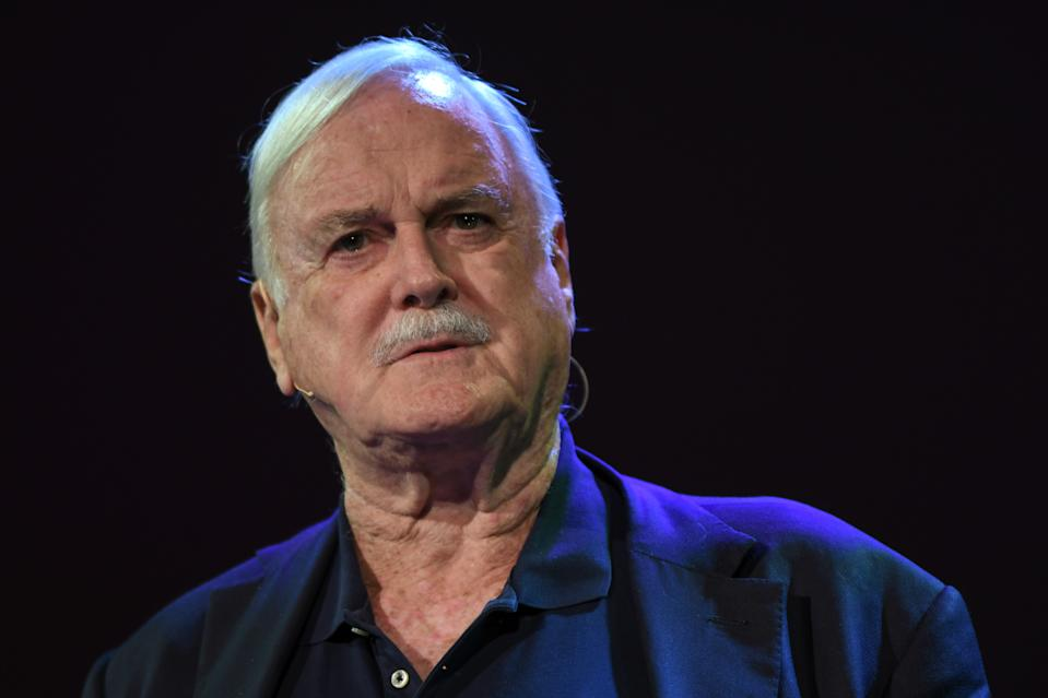 John Cleese, an English actor, comedian, screenwriter, and producer speaks at Pendulum Summit, World's Leading Business & Self Empowerment Summit, in Dublin Convention Center. On Thursday, January 10, 2019, in Dublin, Ireland. (Photo by Artur Widak/NurPhoto via Getty Images)