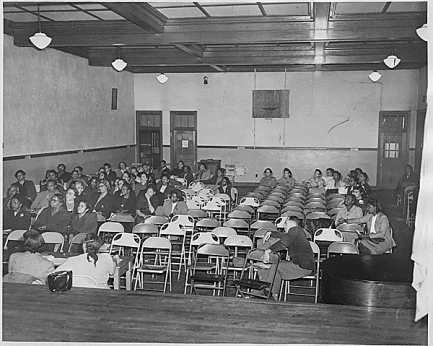 The auditorium at Moton High School (source: National Archives)