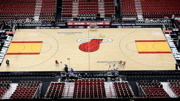 PHOTO: A general view of American Airlines Arena prior to the game between the Miami Heat and the Memphis Grizzlies in Miami, Oct. 23, 2019. (Michael Reaves/Getty Images, FILE)