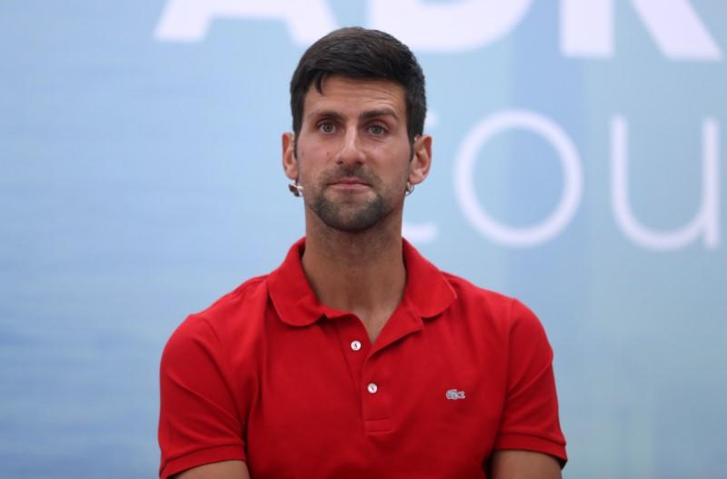 FILE PHOTO: World number one tennis player Novak Djokovic holds a news conference, in Belgrade