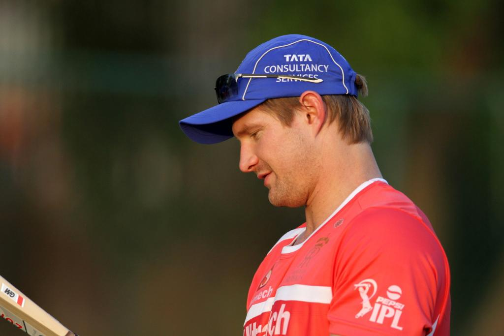Rajasthan Royals' Shane Watson during a practice session at Sawai Mansingh Stadium in Jaipur on Sunday
