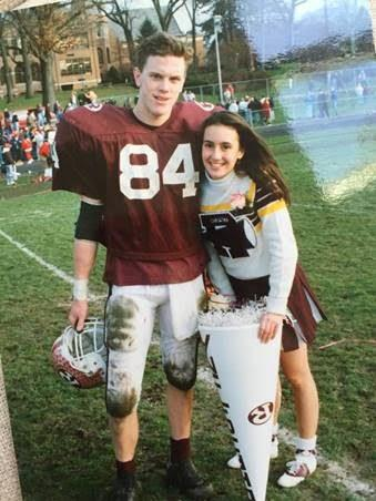 Willie and Christina Geist during a football game at Ridgewood High School
