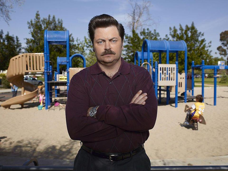 <p><strong>Nick Offerman</strong></p><p>A close cousin to the Daddy, the Comb mustache gets its authority from volume; it depends on a good amount of hair to really get the job done. But instead of gentle, natural diagonal lines, the Comb is more rounded at the edges and turns down at the corners of your mouth. It's a little bit of a softer look, but as Ron Swanson will tell you, no less manly.</p>