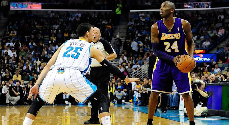 Austin Rivers will never forget the first time he was assigned to guard Kobe Bryant. (Photo by Stacy Revere/Getty Images)