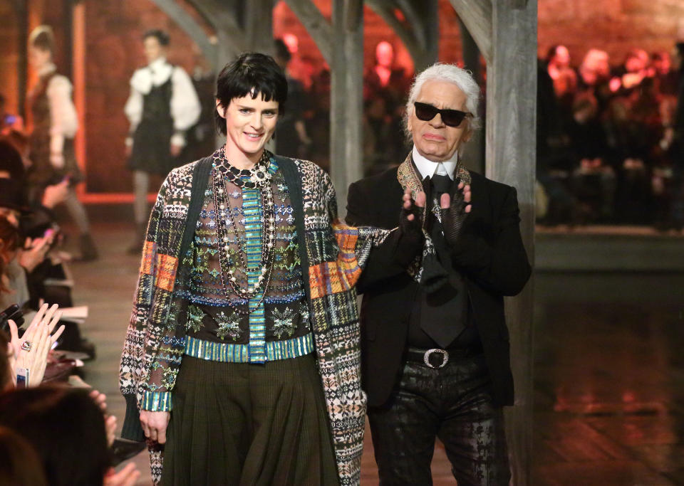 Stella was the face of Chanel in the 90s, with Karl Lagerfeld noting her resemblance to Coco Chanel. Photo: Getty