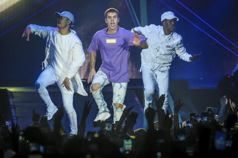 Justin Bieber in Belgium during his Purpose World Tour in 2016. (Photo: Pieter-Jan Vanstockstraeten / Photonews via Getty Images)
