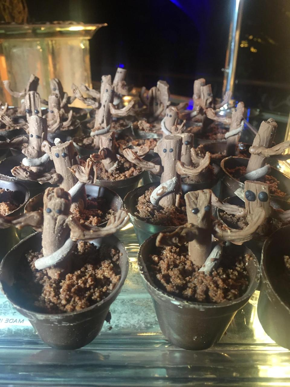 <p>Who knew Groots tasted so good? (Photo: Marcus Errico/Yahoo Movies) </p>