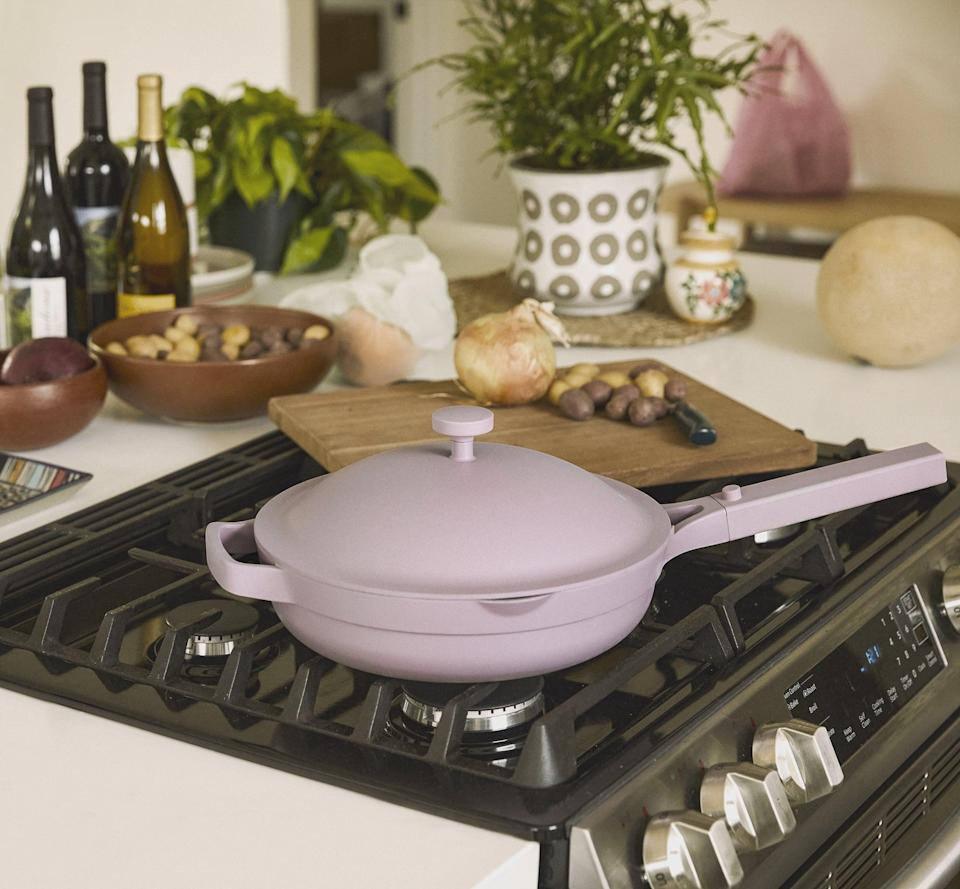 <p>This popular <span>Our Place Always Pan</span> ($145) is a great choice for someone who believes less is more. The brand boasts that the smart design (with includes a steamer and cool spatula) can take the place of eight pans.</p>