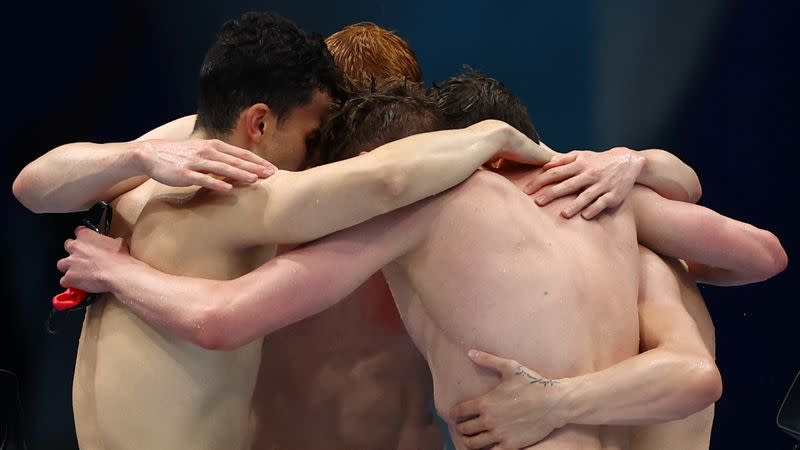Swimming - Men's 4 x 200m Freestyle Relay - Final