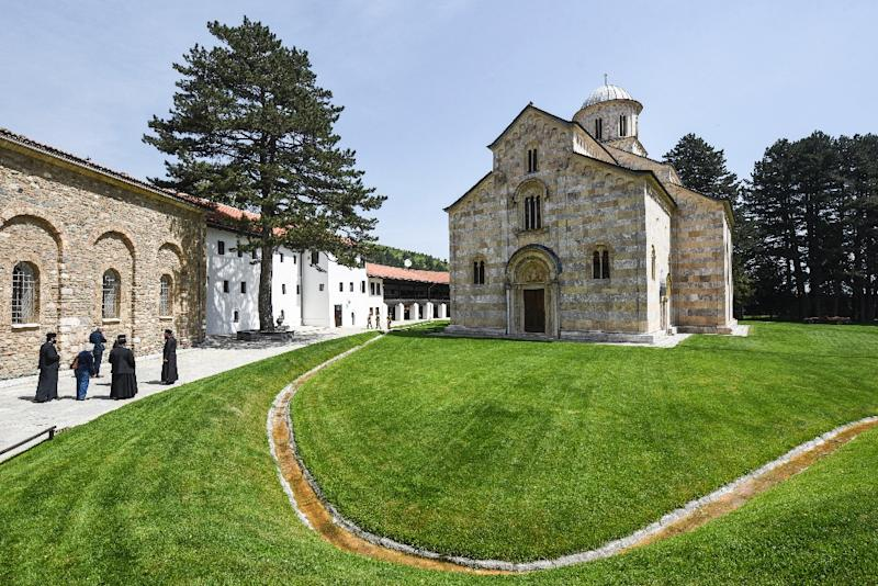 The 14th century Serbian Orthodox Decani Monastery in Kosovo is one of the church's most revered sites