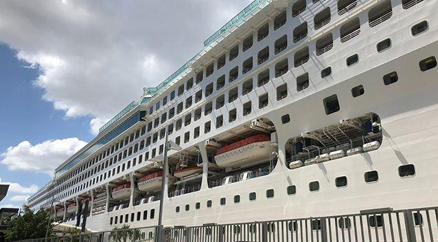 """Carnival Cruises described the suggestion that 16,000 people could have been affected as """"absurd"""". Source: Simon Love/7News"""