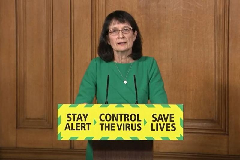 Screen grab of Deputy Chief Medical Officer Dr Jenny Harries during a media briefing in Downing Street, London, on coronavirus (COVID-19). (Photo by PA Video/PA Images via Getty Images)