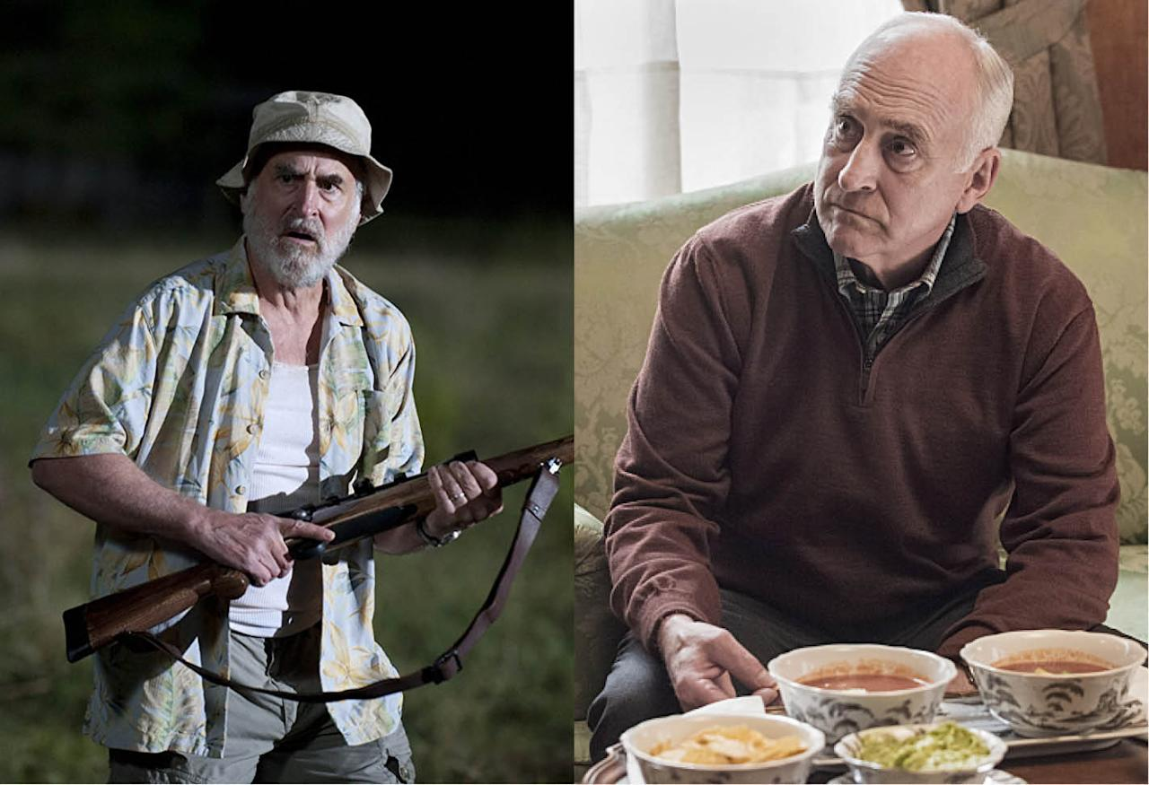 <p>Dale Horvath was a calm, often fatherly figure in the first two seasons of the show — until he was rudely disemboweled by a walker. DeMunn went on to star in former <em>Walking Dead</em> showrunner Frank Darabont's <em>Mob City</em> and recur in Showtime's financial world drama <em>Billions</em> as the father of Paul Giamatti.<br /><br />(Photo: AMC/Showtime) </p>