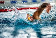 """<p>One to bank for after lockdown...</p><p>Whether you're cold water plunging or goggles-on for a couple of laps of your local (heated) pool, what to eat as a pre-workout meal prior to a swim is, once again, somewhat a personal preference, says nutritionist Grace Kingswell (<a href=""""https://www.instagram.com/gracekingswell/?hl=en"""" rel=""""nofollow noopener"""" target=""""_blank"""" data-ylk=""""slk:@gracekingswell"""" class=""""link rapid-noclick-resp"""">@gracekingswell</a>). </p><p>'I'm a huge fan of fasted exercise as it helps tip us all into a more insulin-sensitive state. That being said, I'm a passionate cold water swimmer myself and find that sometimes it really helps to have a bit of a feed before taking the plunge, even if that's just for a bit of a spike in blood glucose to give me the courage to jump in!', she shares.</p><p>Ideally, you'd eat a protein based breakfast like eggs, avocado and leafy greens and wait two to three hours to digest before heading out for your session. But, if time isn't on your side and you're up and out early to squeeze in your session, a mix of carbohydrates and fat is a good bet for quick energy and a quicker-to-digest boost. Try avocado on wholegrain oatcakes or breakfast bars made from grated carrot, mashed banana and chopped nuts.</p><p>She recommends aiming to eat your pre-workout meal an hour before you start training or, if you simply don't have time for that then opt for something that can be broken down and dealt with quickly by the body, like a banana and a teaspoon of almond butter.</p>"""