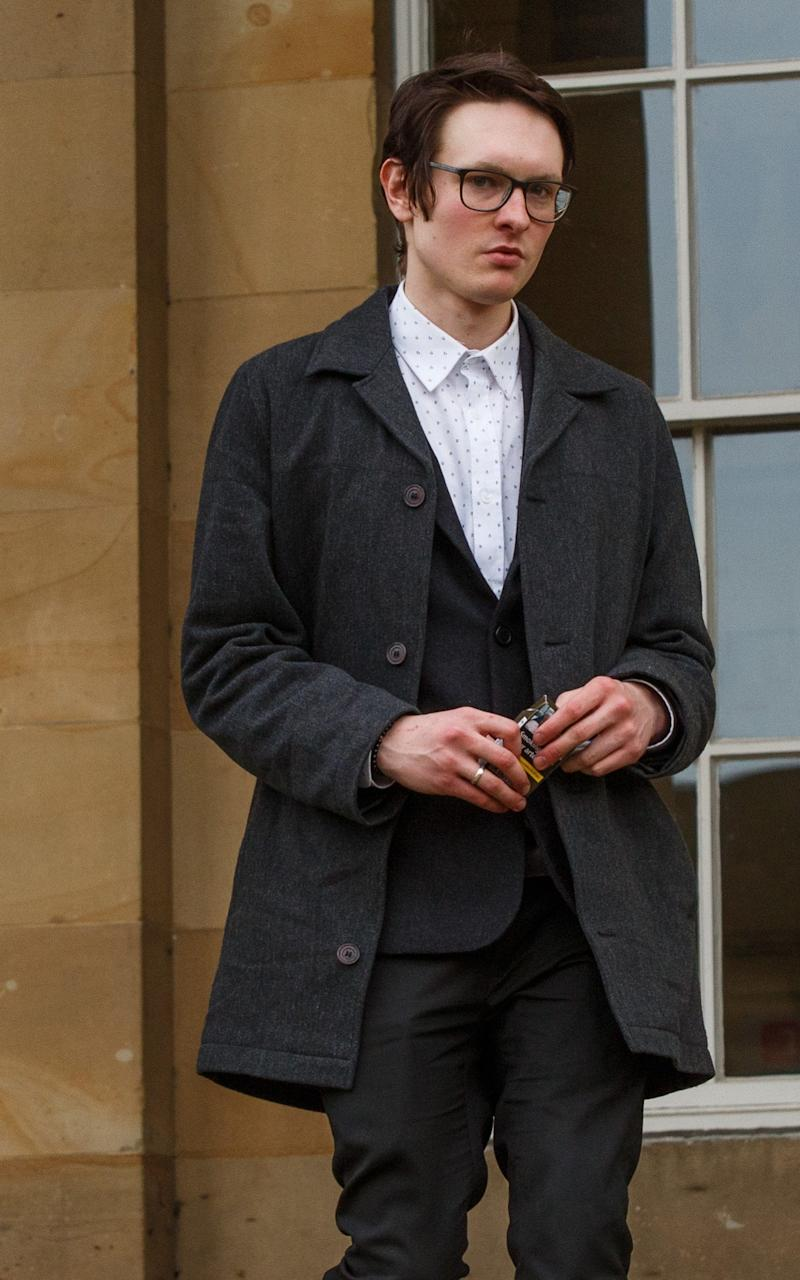 Lewis Tappenden, 24, of Huntington, Cambs., leaves York Crown Court during his trial - Credit:  Benjamin Paul / SWNS.com