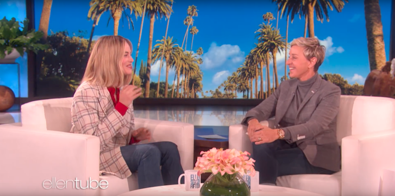 Margot explains to the audience how Ellen and her met in a hotel gym. Source: Supplied