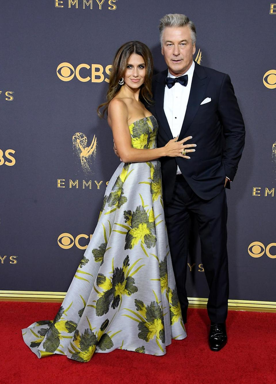 <p>Alec and Hilaria Baldwin attends the 69th Annual Primetime Emmy Awards on September 17, 2017. (Photo: Getty Images) </p>