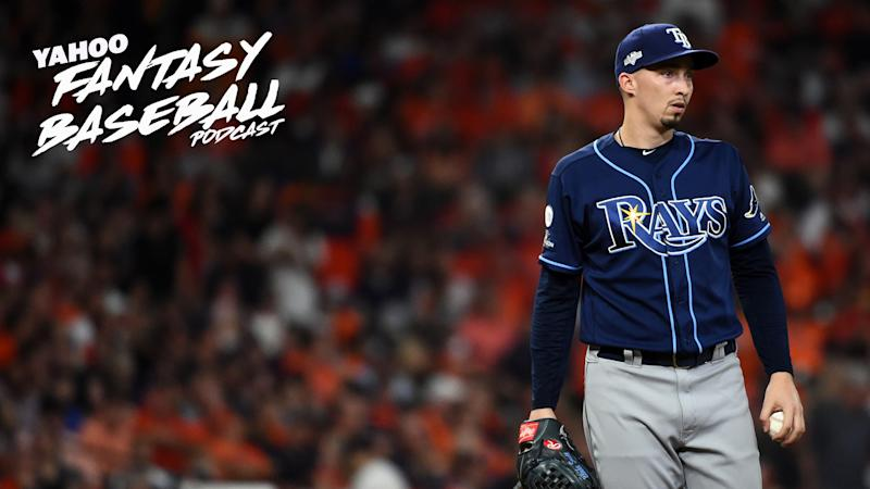 Tampa Bay Rays pitcher Blake Snell hopes to lead the team to an AL East title and more in a year where the rival Yankees and Red Sox could get off to a slow start. Scott Pianowski & Dalton Del Don handicap the Rays' chances from a betting perspective on this week's Yahoo Fantasy Baseball Podcast. (Photo by Cooper Neill/MLB Photos via Getty Images)
