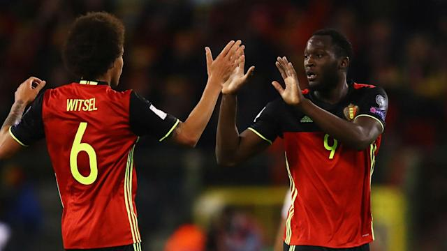 In-form Romelu Lukaku scored his 28th goal of the season to earn Belgium a 1-1 draw from their World Cup qualifier against nine-man Greece.
