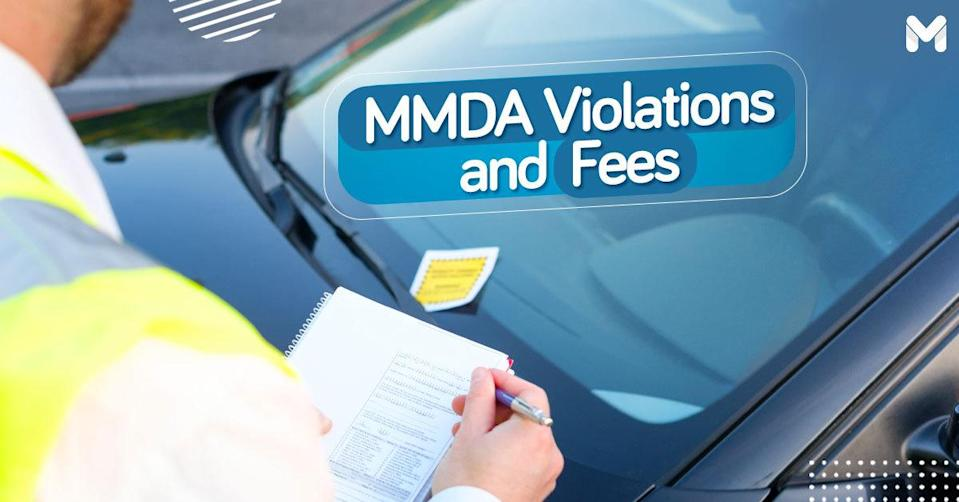 MMDA violation and penalty fee list