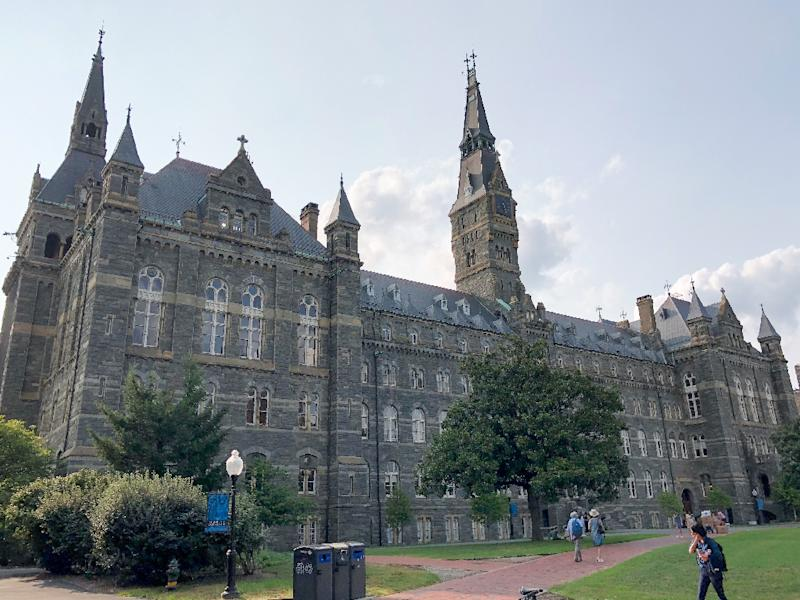 Wealthy parents paid to have the college entrance exam scores of their children fixed to gain admission to elite universities like Georgetown University in Washington (AFP Photo/Daniel SLIM)