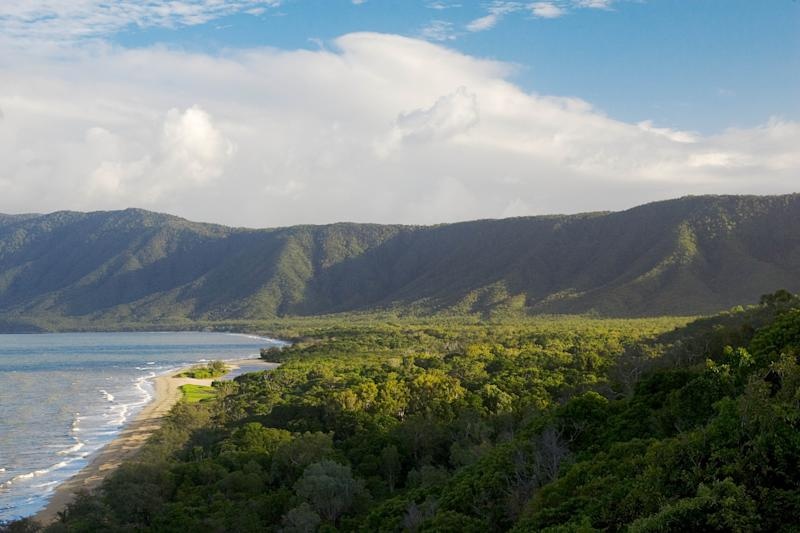 Rex lookout along Captain Cook Highway, has a pristine view of Trinity Bay, which is part of the Great Barrier Reef. Source: Getty Images