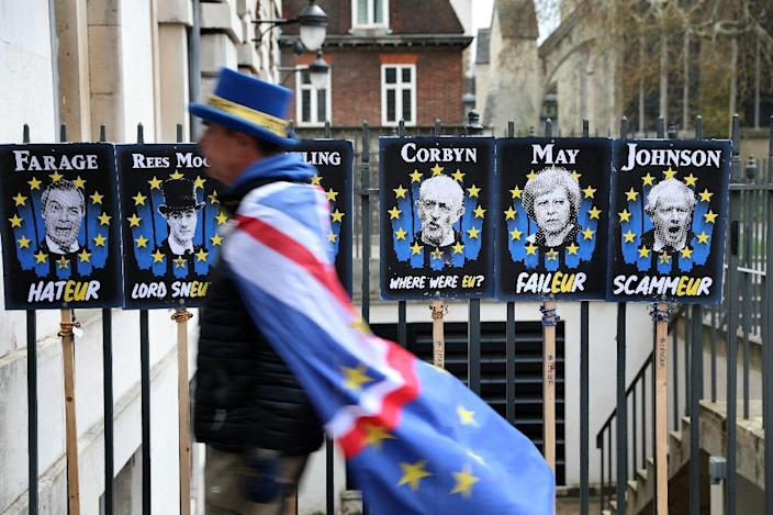 Smaller British political groups, such as Nigel Farage's Brexit party, are planning to campaign vigorously in the EU parliament election (AFP Photo/ISABEL INFANTES)