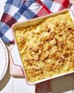 """<p>Want to make this year's mac 'n' cheese even more decadent than usual? Sneak in some ranch powder and top it off with buttery crackers.</p><p><strong><a href=""""https://www.countryliving.com/food-drinks/a36744040/ritzy-ranch-mac-n-cheese-recipe/"""" rel=""""nofollow noopener"""" target=""""_blank"""" data-ylk=""""slk:Get the recipe"""" class=""""link rapid-noclick-resp"""">Get the recipe</a>.</strong></p>"""