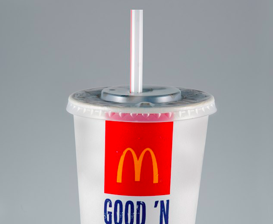 Cannucce di plastica di McDonald's (Getty Images).