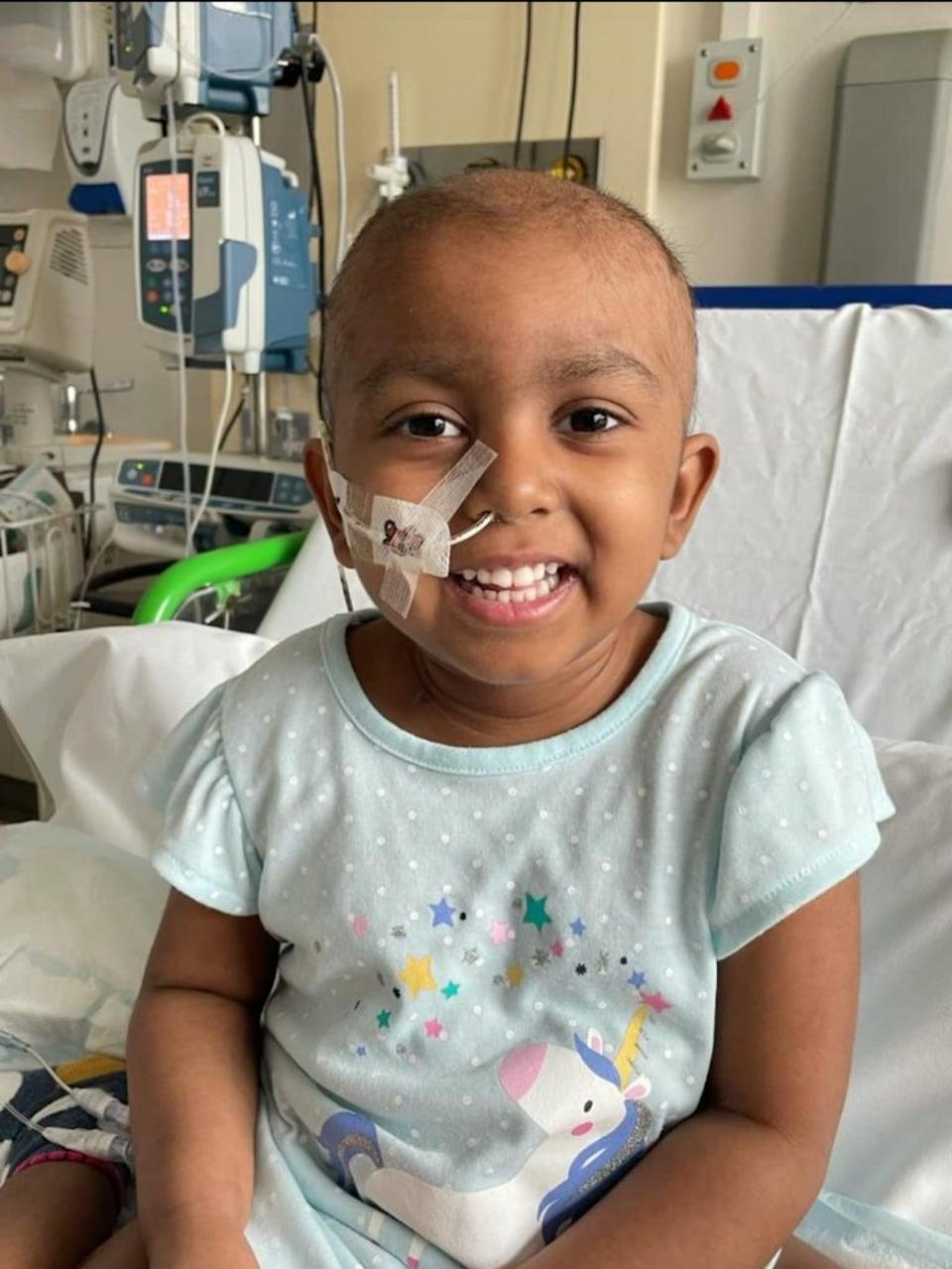 Esha said she was tired, lost her appetite and developed bruising on her leg. But then a series of blood tests confirmed the devastating news. (Supplied)