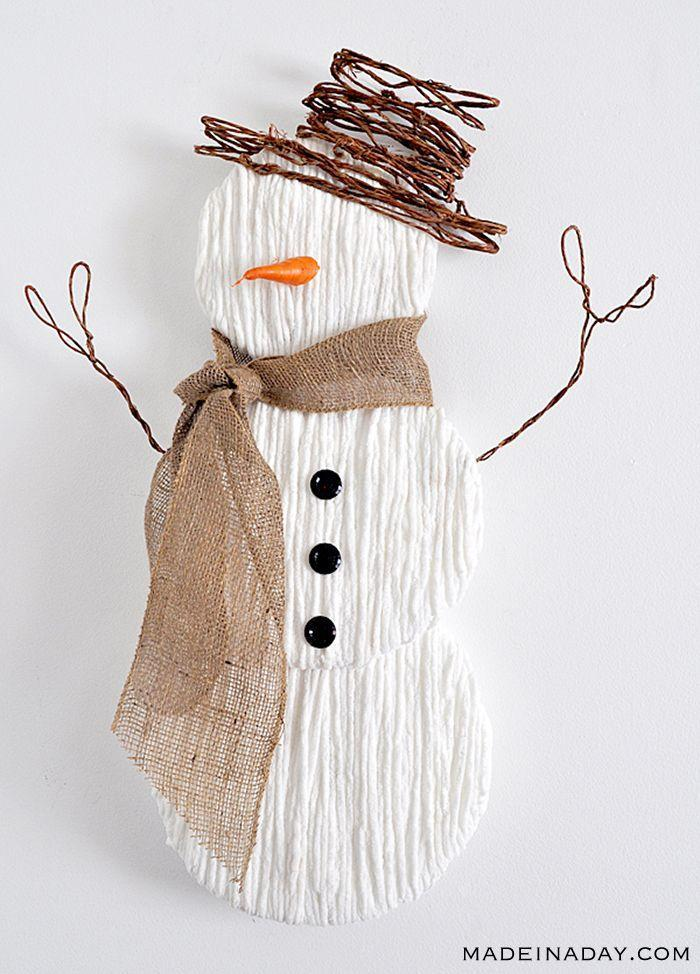 "<p>Deck the walls with this 3-foot tall Frosty for instant cheer in any room of the house.</p><p><strong>Get the tutorial at <a href=""https://madeinaday.com/yarnsnowmanpinterestshowtell/"" rel=""nofollow noopener"" target=""_blank"" data-ylk=""slk:Made in a Day"" class=""link rapid-noclick-resp"">Made in a Day</a></strong>.</p><p><a class=""link rapid-noclick-resp"" href=""https://www.amazon.com/Laribbons-zy-fabric-craft-Ribbon-Burlap/dp/B0046UV3CO?tag=syn-yahoo-20&ascsubtag=%5Bartid%7C10050.g.22825300%5Bsrc%7Cyahoo-us"" rel=""nofollow noopener"" target=""_blank"" data-ylk=""slk:SHOP BURLAP"">SHOP BURLAP</a><br></p>"