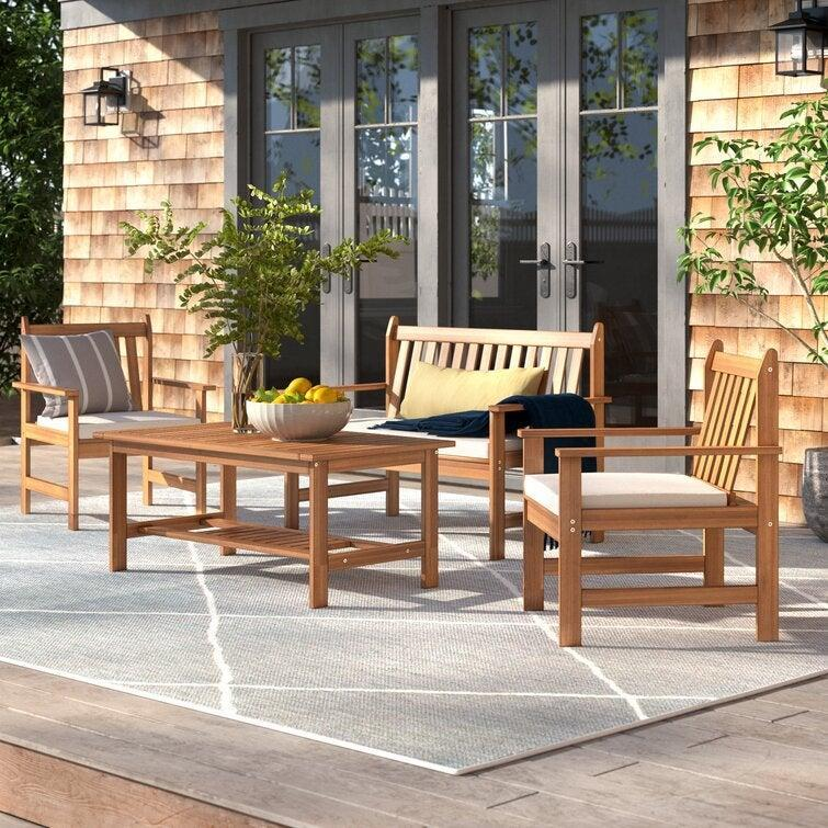 """<h2>Wayfair</h2><br><strong>Sale:</strong> Up to 60% off 4th of July Clearance<br><strong>Promo Code:</strong> None<br><strong>Dates:</strong> Now - Limited Time<br><br><em>Shop</em> <strong><em><a href=""""http://wayfair.com"""" rel=""""nofollow noopener"""" target=""""_blank"""" data-ylk=""""slk:Wayfair"""" class=""""link rapid-noclick-resp"""">Wayfair</a></em></strong><br><br><strong>Lark Manor</strong> Joliet Solid Wood 4, $, available at <a href=""""https://go.skimresources.com/?id=30283X879131&url=https%3A%2F%2Fwww.wayfair.com%2Foutdoor%2Fpdp%2Flark-manor-joliet-4-piece-sofa-seating-group-with-cushions-w005405177.html"""" rel=""""nofollow noopener"""" target=""""_blank"""" data-ylk=""""slk:Wayfair"""" class=""""link rapid-noclick-resp"""">Wayfair</a>"""