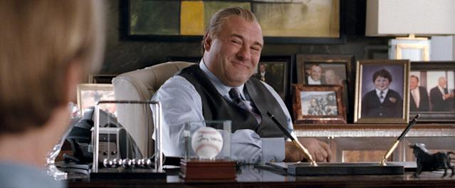 "This film image released by Warner Bros. Pictures shows James Gandolfini in a scene from, ""The Incredible Burt Wonderstone."" (AP Photo/Warner Bros. Pictures)"