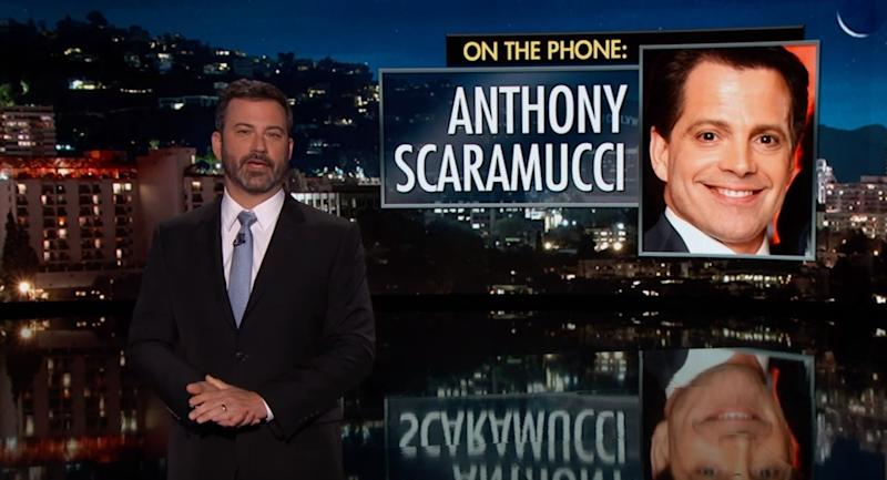 Trump White House Jimmy Kimmel Interviews 'Anthony Scaramucci&apos About His Firing
