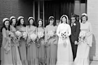 <p>A sure thing at any early '70s wedding? Tudor sleeves. They rose to prominence thanks to Princess Anne's 1973 wedding dress and made an appearance at many weddings at the time.</p>